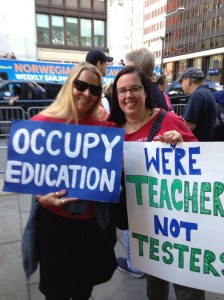 Katie Lapham and Me 5:17:14 Rally To Take Back Public Education